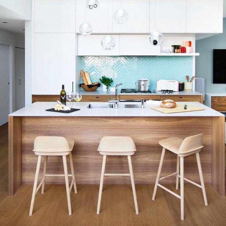 Cozinha Planejada Azul Tiffany Dicas De Decorao Casacor