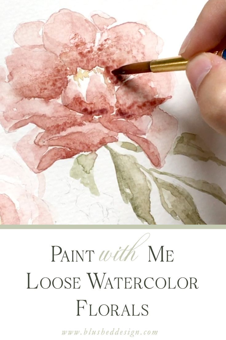 Watercolor Tutorial How To Paint Flowers With Watercolor Come