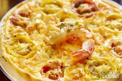 Receita de Quiche de camarão - Comida e Receitas