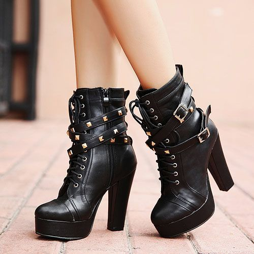 Cheap Spring Autumn Round Toe Zipper Design Rivets