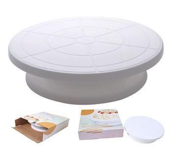Freeshipping Rotating Revolving DIY Cake Sugarcraft Turntable Decorating Stand Platform 1 set color box