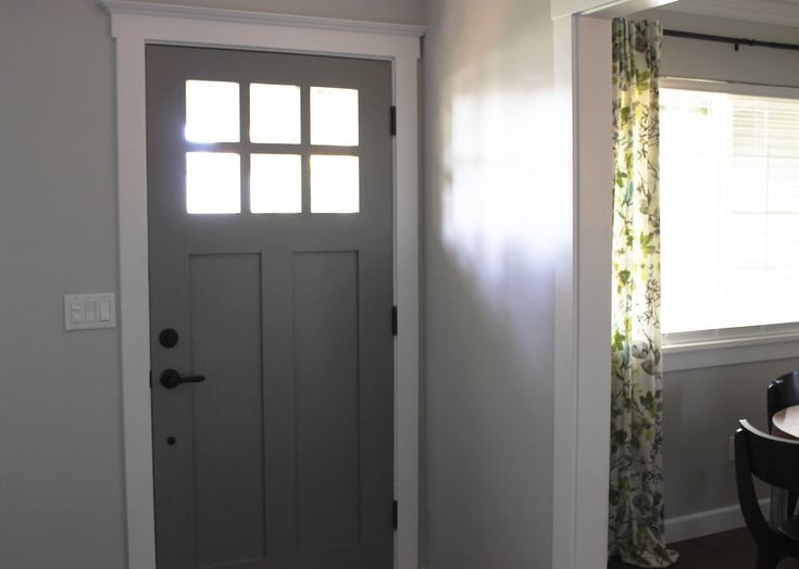 Accesories  DecorsLittle House Designs With Cool White Front Door Trim Behind The Closed Door