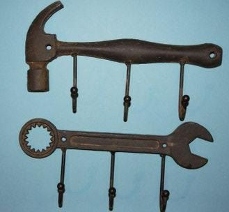 Hey, I found this really awesome Etsy listing at https://www.etsy.com/listing/187189431/11-wrench-and-hammer-hook-combo-1-each