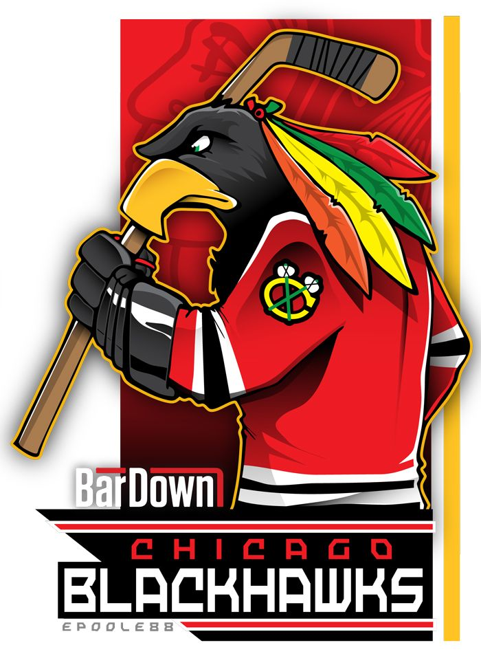The Chicago Blackhawks get a literal rendering from epoole88.  Check out Eric Poole's work at http://epoole88.tumblr.com                                                                                                                                                     More