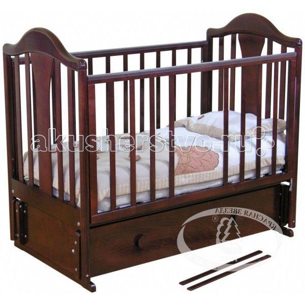 Детская кроватка Можга (Красная Звезда) Карина С-555 (маятник продольный)