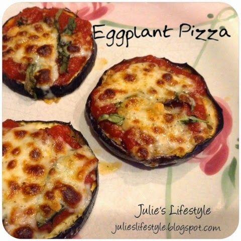 Julie's Lifestyle: Eggplant Pizza Recipe