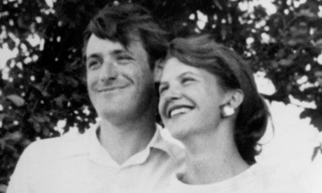 Poet Ted Hughes and first wife Sylvia Plath, who killled herself. Photograph: Andrew Fox