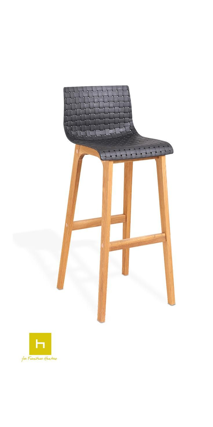 The Rho Bar Stool is a modern piece with a quality oak frame and a stunning curved seat with a attractive weave style design. #barstools #furniturehunters