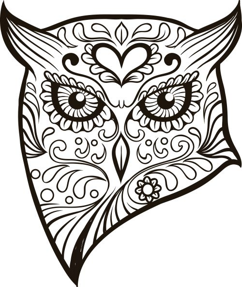 create your own sugar skull advanced coloring page or enjoy an already colored in - Sugar Skull Coloring Pages Print