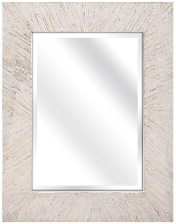Ophelia Mother of Pearl Wall Mirror - Wall Mirrors -  Wall Decor -  Rectangular Wall Mirror -  Mantel Wall Mirror -  Entryway Mirror -  Decorative Mirror | HomeDecorators.com