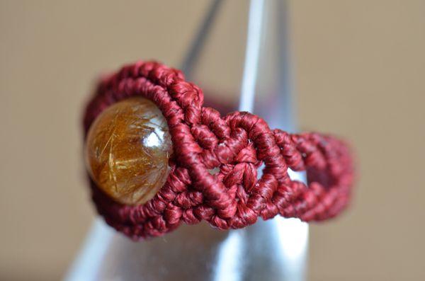 Μακραμέ δαχτυλίδι / ρουτίλιο χαλαζία [# 13] του προτύπου λαβή - πολύτιμους λίθους πακέτο εργαστήριο Online Shop | χειροποίητα φυσική…
