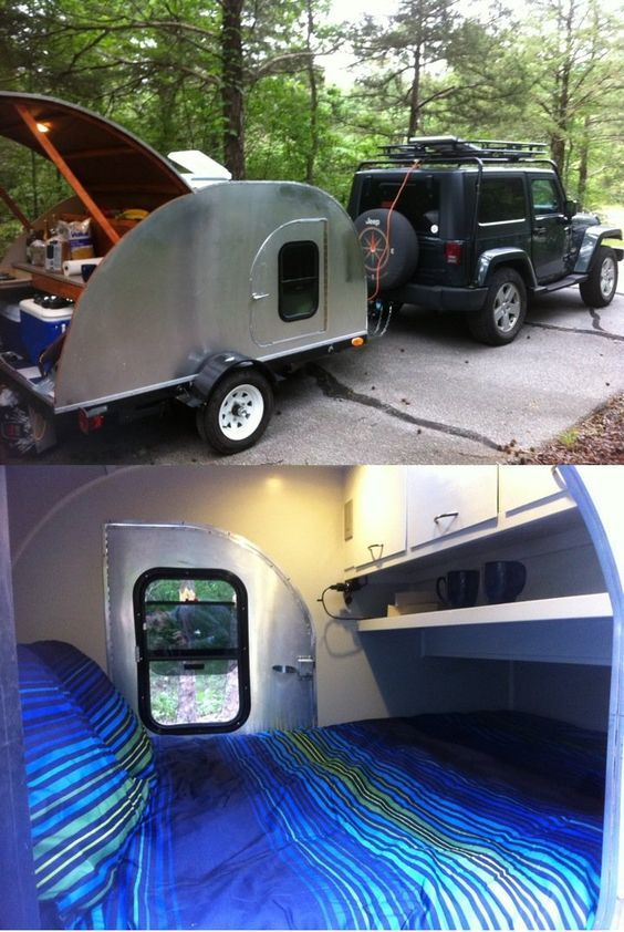 Hey Reddit, look what I built. I love to camp, but I'm getting too old for sleeping on the ground. I'm also not a big fan of RVs. This is the best of both worlds.