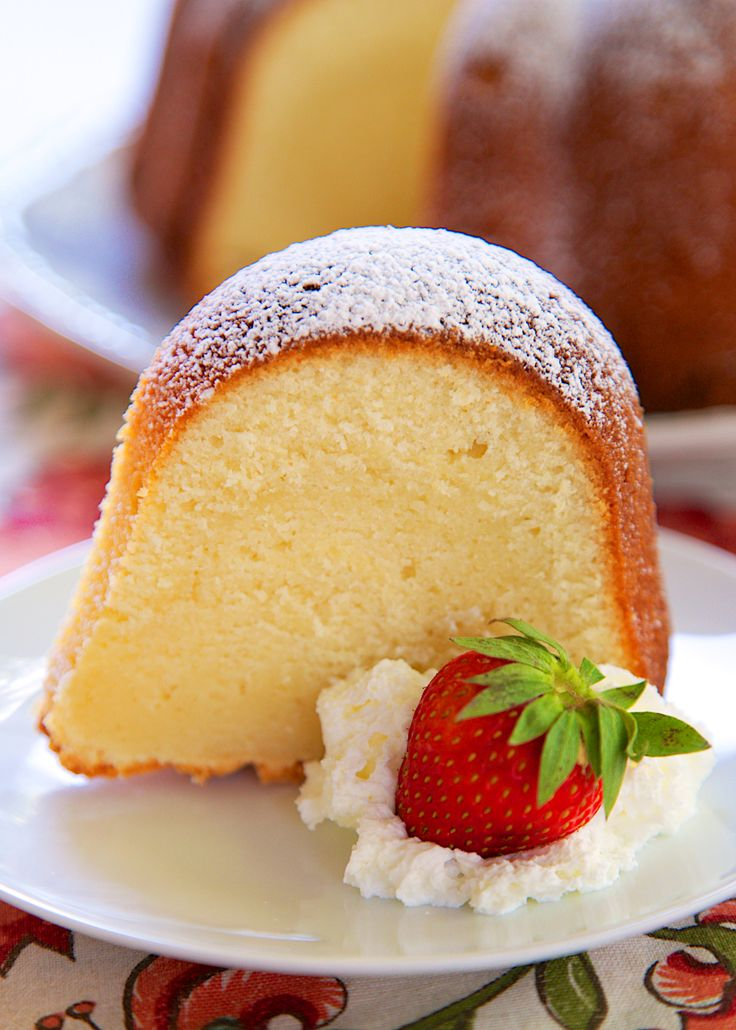 5-Flavor Pound Cake Recipe - homemade pound cake with tons of great flavor - Vanilla, Rum, Coconut, Butter, and Lemon -  highly recommend serving it with some vanilla ice cream and fresh berries way at your Memorial Day cookout.