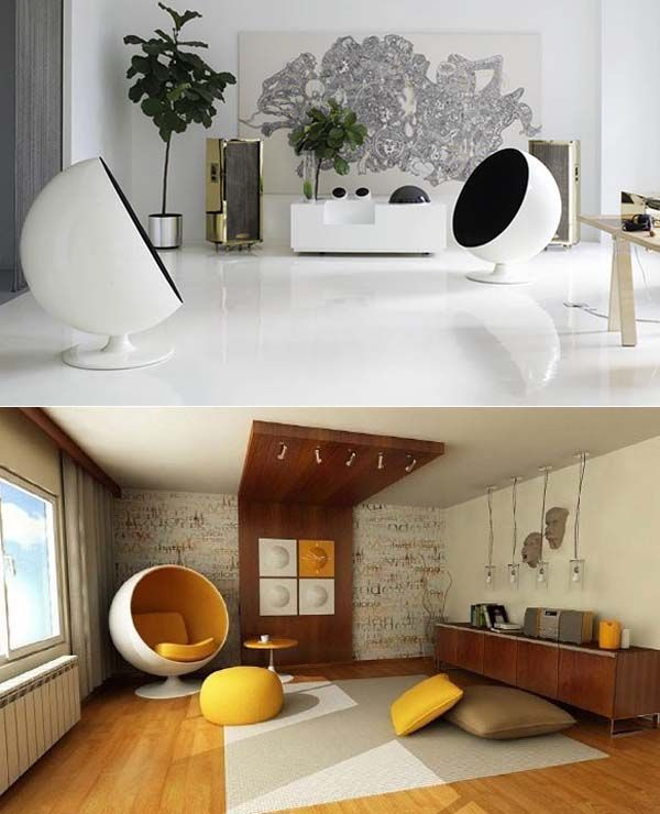 Mod Furniture Egg Chair Interior Design Modern