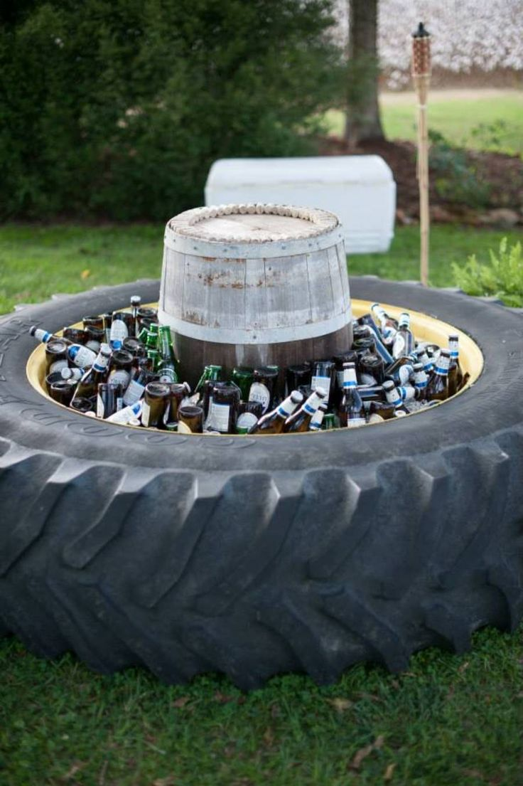 The 25 best tire wedding cakes ideas on pinterest black for Tire decoration ideas