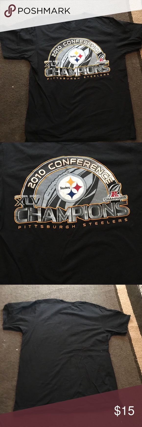 Pittsburgh steelers conference champions t shirt GUC! From 2010 playoffs. Unisex size large Shirts Tees - Short Sleeve