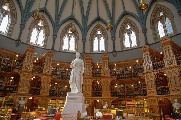 The Library of Parliament in Ottawa, Canada, serves as the primary research library for the Parliament of Canada. According to the Government of Canada's website, exactly 40 years after its completion, a fire destroyed most of the parliament building— with the exception of the library. And thanks to the fireproof materials used in its construction, the historical government documents were preserved.
