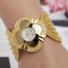 En Marka Lüks Moda Altın Bileklik İzle Kadınlar Kuvars Kol Bayan Elbise İzle relógios Femininos Relojes Mujer WY576 (Çin (Anakara))
