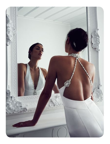 Beautiful editorial showing one of our new collection wedding dresses. #diamantestraps #lowback #silkweddingdress
