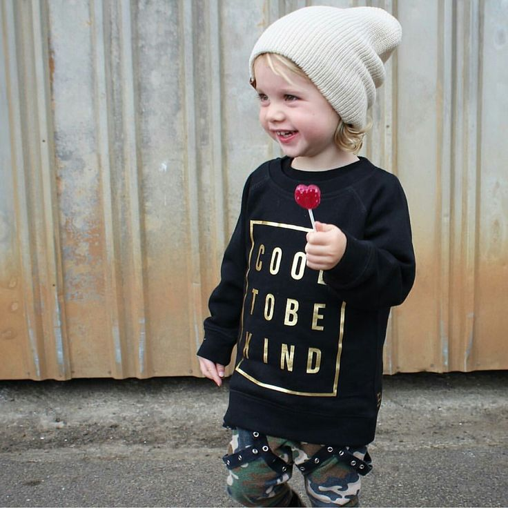 Cool to be kind graphic tee. Black and gold kids babies toddlers #graphictee #slogantee