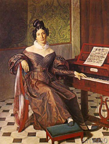 Gioacchino+Rossini+-+Bildnis+der+Sängerin+Isabella+Colbran