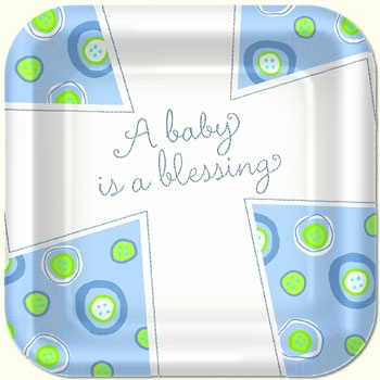 Blessed Baby Boy Party Supplies for Baptism #baptism