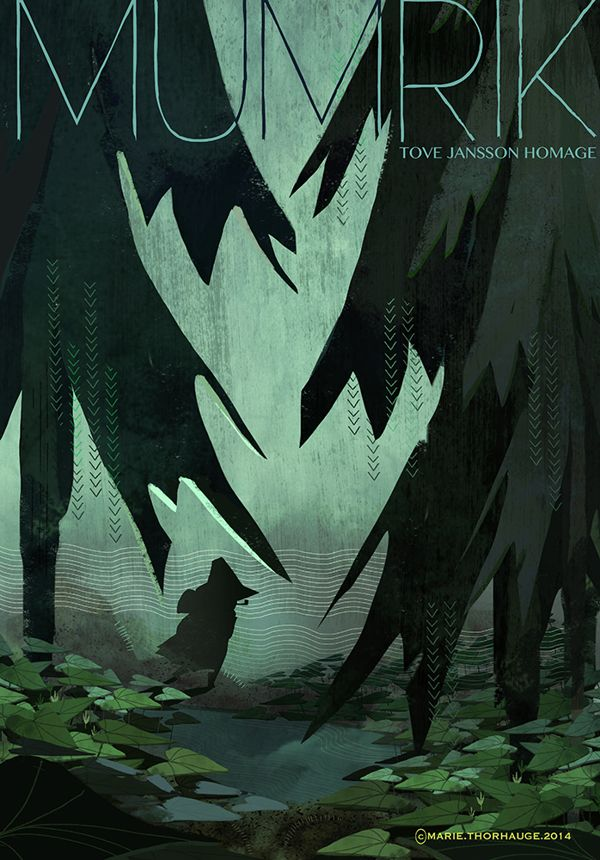 Moomin / Tove Jansson homage on Behance