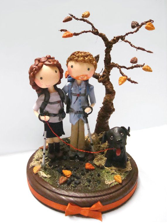 Hiking Couple Cake Topper