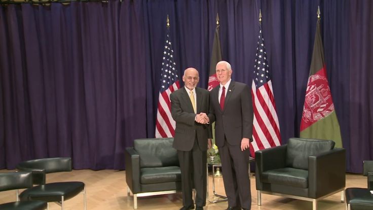 VP Mike Pence meets with President of Afghanistan Ashraf Ghani  at 53rd ...