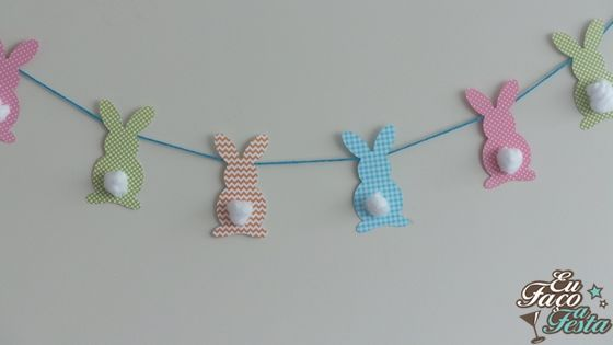 Guirlanda de coelhos Eu Faço a Festa!