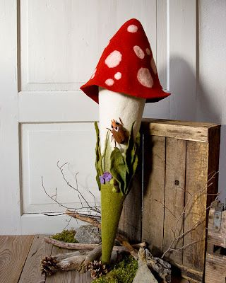 Mit dem Pilz aus Filz wird euer Nachwuchs am ersten Schultag zum echten Hingucker.