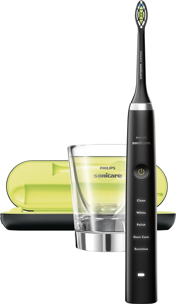 Philips Sonicare - DiamondClean Rechargeable Toothbrush - Black - AlternateView15 Zoom