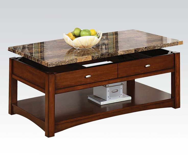 Furniture Rectangular Wooden Cherry Coffee Table With