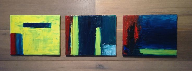 serie abstract oil paintings