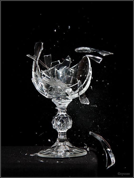 Anger illustration: broken glass is a usual illustration for anger