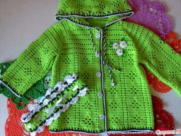 Cotton jacket and headband for girls free crochet. More Patterns Like This!