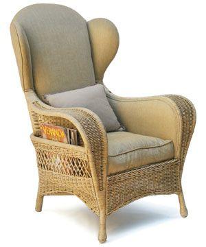 Mollies Wicker Wing Chair - Mulligan