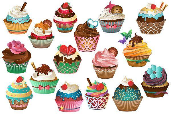 Cupcake Clipart Vector Png Jpg Cupcake Clipart Cupcake Illustration Clip Art