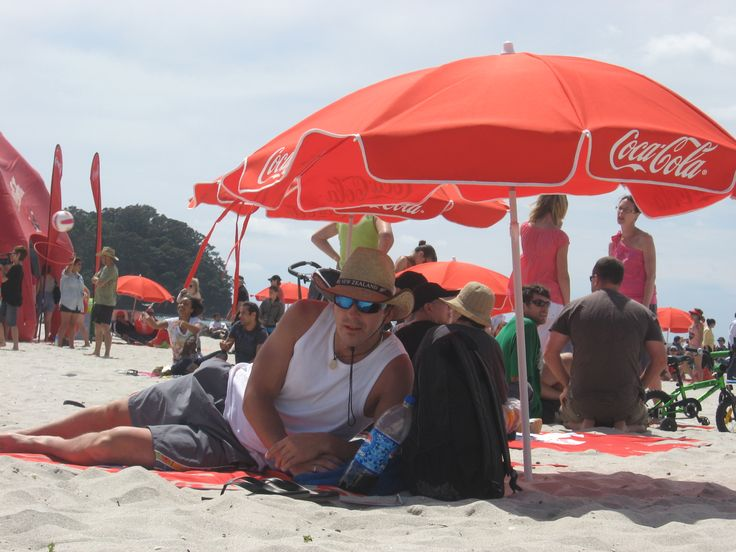 Coca Cola beach party in Christmas holidays