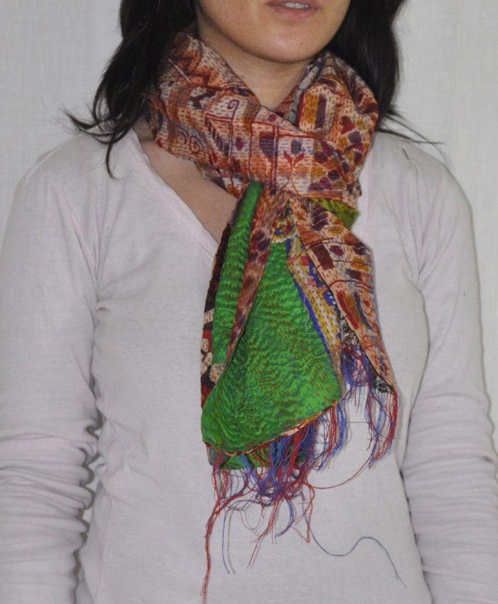 Indian Patchwork Wrap Scarves Dupatta Vintage Indian Silk Women's Stole Neckwear #Lalhaveli #Stole