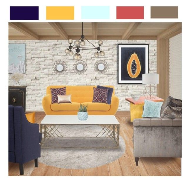 """""""Hello Seattle"""" by sierrrrrra ❤ liked on Polyvore featuring interior, interiors, interior design, home, home decor, interior decorating, WALL, Madison, Gabby and Nate Berkus"""