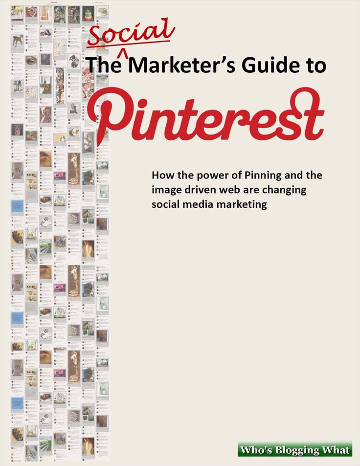 Free Social Marketer's Guide to Pinterest