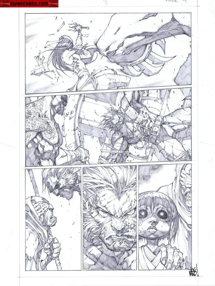 Kwan Chang :: For Sale Artwork :: Savage Wolverine # 8 by artist Joe Madureira