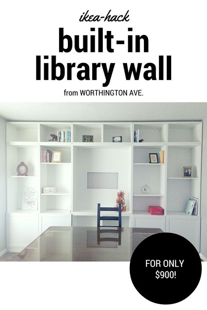 Ikea-Hack: Built-in Library Wall | Worthington Ave