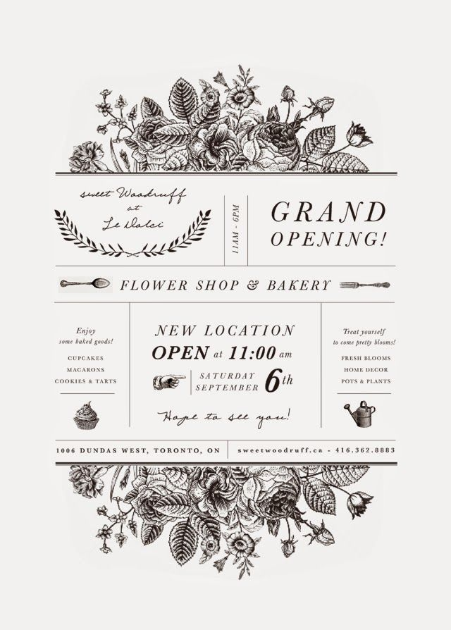 11 best lba images on pinterest invitations grand opening sweet w style grand opening sweet woodruff at le dolci this would also make a lovely wedding invite design stopboris Choice Image