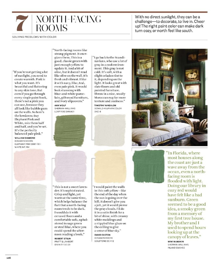Paint Colors With Cult Followings 10 Picks From The: Paint Colors For North-facing Room (south-facing For