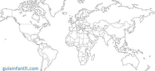 Mapa Mundi Mudo En Blanco Y Negro.Mapamundi Para Ninos De Primaria Mapamundi Planisferios Y