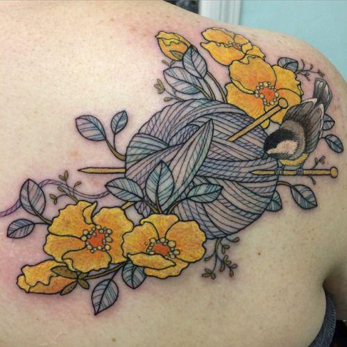 yarn tattoos - Google Search                                                                                                                                                                                 More