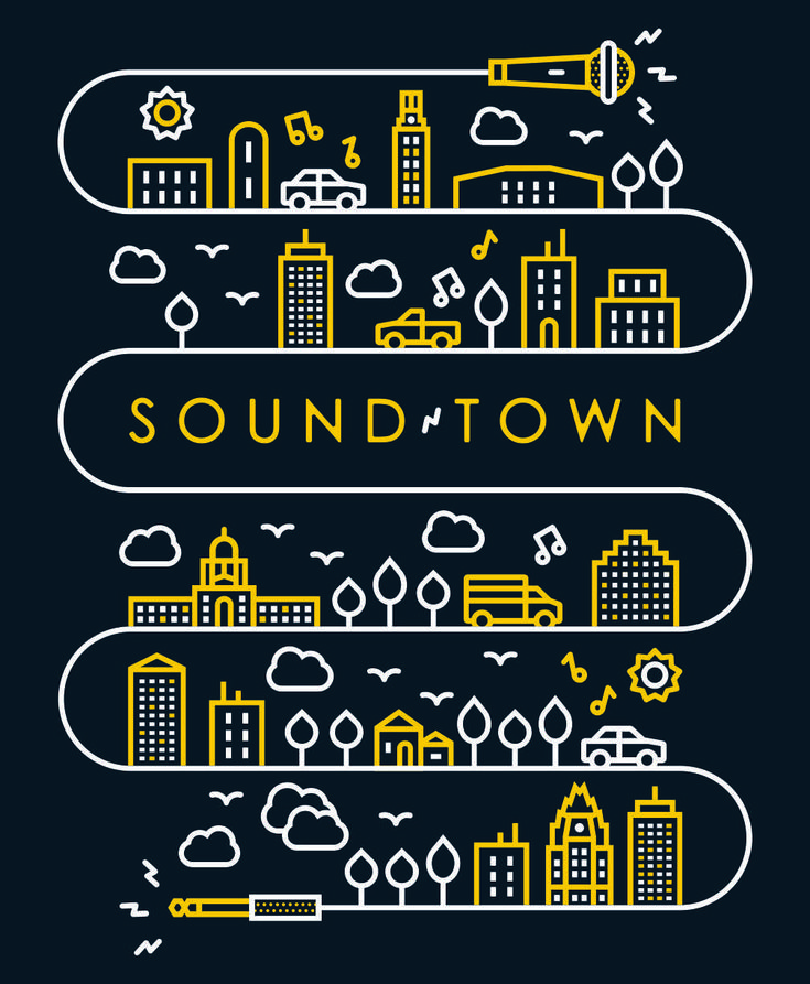 Line illustration. Soundtown – Ryan Weaver