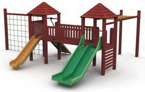 VG5202A - 2 Kuleli Ahsap Oyun Grubu | Ahşap Çocuk Oyun Parkları | Ahşap Oyun Grupları | Çocuk Oyun Parkları | Doapark